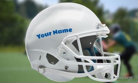 "6/"" Custom Football Helmet with Name Vinyl Decal"